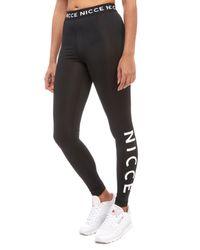 Nicce London - Black Logo Legging - Lyst