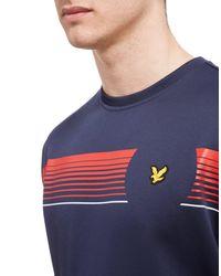 Lyle & Scott - Blue Johnson Graphic Crew Sweatshirt for Men - Lyst