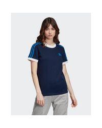 Adidas Originals Blue 3-stripes T-shirt