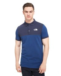 6fc58226 Lyst - The North Face Colour Block Polo Shirt in Blue for Men