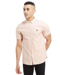 Lyle & Scott - Pink Short Sleeve Oxford Shirt for Men - Lyst