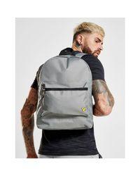 Lyle & Scott Gray Logo Backpack for men