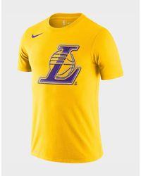 Nike Yellow Los Angeles Lakers Logo Men