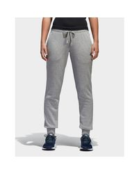 Adidas Black Essentials Logo Cuffed Pants