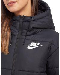 Nike - Black Padded Jacket - Lyst