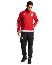 Adidas | Red Scotland Fa 2015/16 Presentation Suit for Men | Lyst