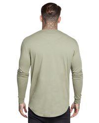Siksilk Gray Long Sleeve Core T-shirt for men