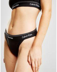 Calvin Klein - Black Heritage Tanga Briefs - Lyst