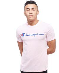 Champion Pink Core Script T-shirt for men