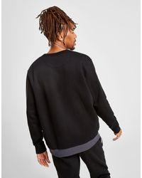 Colour Block Linear Felpa a girocollo di Lacoste in Black da Uomo