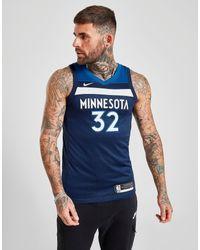 Nike NBA Minnesota Timberwolves Towns #32 SM Trikot Herren in Blue für Herren