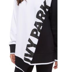 Ivy Park - Black Asymetric Sweatshirt - Lyst