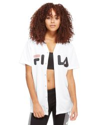 Fila White Paula Baseball Shirt