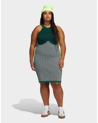 Adidas Originals Green X Ivy Park Logo Plus Size Dress