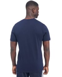 Adidas Originals - Blue Trefoil T-shirt for Men - Lyst