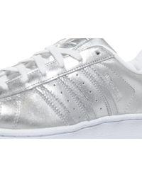 Adidas Originals - Metallic Superstar Perforated - Lyst