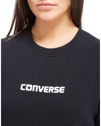Converse - Gray Panel Sweatshirt - Lyst