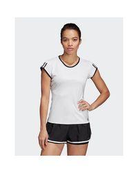 Adidas Originals White 3-stripes Club T-shirt