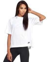 Nike White Sportswear Bonded Top