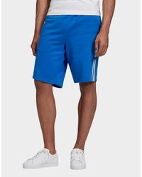 Adidas Originals Blue 3d Trefoil 3-stripes Sweat Shorts for men