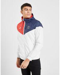 Paris Saint Germain Windrunner Jacket di Nike in White da Uomo