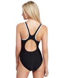 Speedo Black Monogram Muscleback Swimsuit