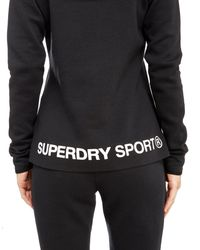Superdry - Black Gym Tech 1/2 Zip Hoodie - Lyst