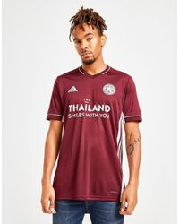 Adidas Red Leicester City Fc 2020/21 Third Shirt for men