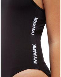 Ivy Park Black Logo Tape Bodysuit