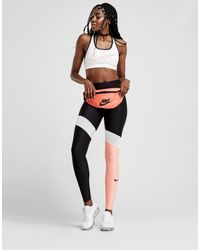 127fcdd3006009 Nike Power Training Colour Block Tights in Black - Lyst