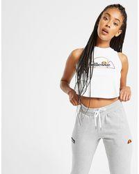 Jogging Logo Polaire Femme Ellesse en coloris Gray