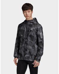 Adidas Gray Own The Run Camo Jacket for men