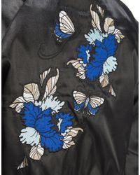 Hype - Black Crop Souvenir Jacket - Lyst
