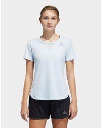 Adidas Originals Blue Training 3-stripes T-shirt Heat.rdy