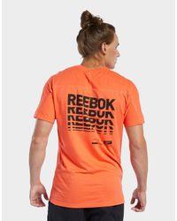 Reebok Orange Speedwick Move Tee for men