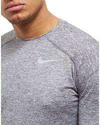Nike Gray Dry Element Crew Top for men