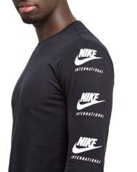 Nike Black Internationalist Men's Long Sleeve Top for men