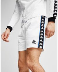 Kappa White Cole Poly Shorts for men