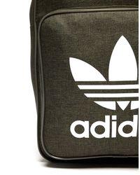 Adidas Originals Green Classic Trefoil Backpack for men