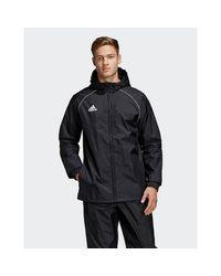 Adidas Originals Black Core 18 Rain Jacket for men
