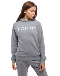 Tommy Hilfiger - Gray Ribbed Hoody - Lyst