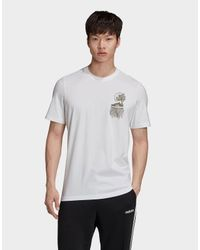 Adidas Originals White Rooted In Sport T-shirt for men
