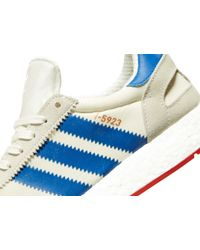 Adidas Blue I-5923 Wht/blu/red for men