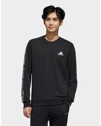 Adidas Black Essentials Tape Sweatshirt for men