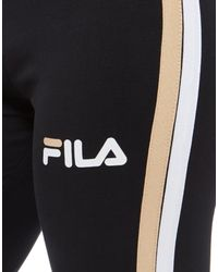 Fila - Black Stripe Leggings - Lyst