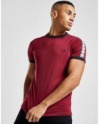 Camiseta Taped Retro Ringer Fred Perry de hombre de color Red