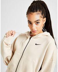 Nike Natural Trend Fleece Oversized Crop Full Zip Hoodie