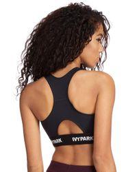 Ivy Park Black Tape Sports Bra