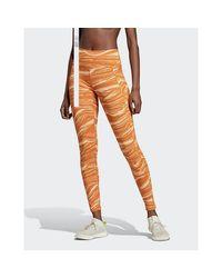 Adidas Originals Orange Believe This Wanderlust Leggings