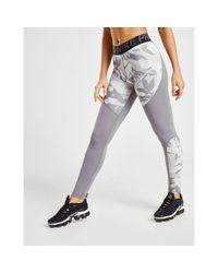 Nike Gray Training Pro Camo Tights
